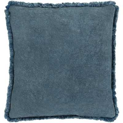 "Reina Pillow, 22""x 22"", Denim - Roam Common"