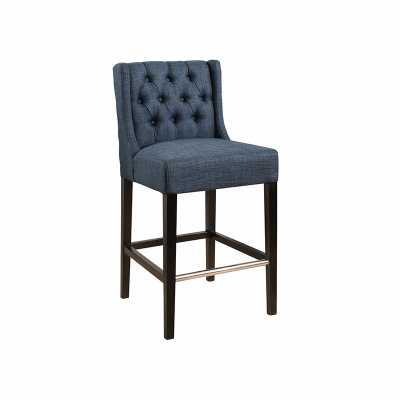TRADE DEAL- BELLVILLE TUFTED COUNTER STOOL NAVY - Abbyson Living