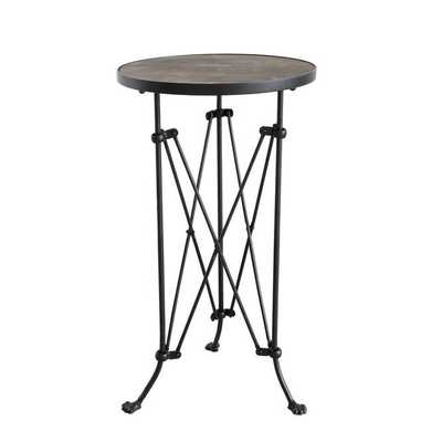 WOODEN TOP TRESTLE BASE SIDE TABLE - Shades of Light
