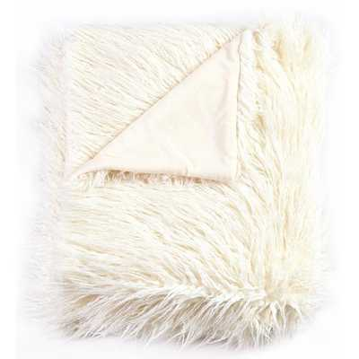Wadhurst Mongolian Soft Shaggy Faux Fur Throw - Wayfair