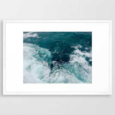 "Ocean Waves (Teal) - 26"" x 38"" - vector white - Society6"
