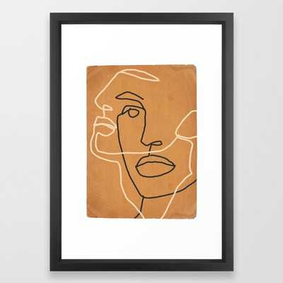 Abstract Face 6 Framed Art Print - Society6