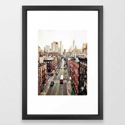 New York City - FRAMED ART PRINT VECTOR BLACK- 15x21 - Society6