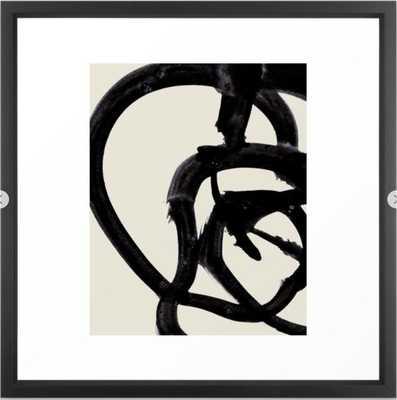 Mono Brush 2 Framed Art Print - Society6