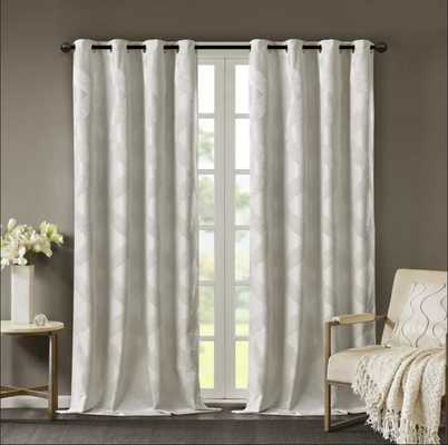 Hambrick Ogee Knitted Jacquard Geometric Blackout Thermal Grommet Single Curtain Panel - Wayfair