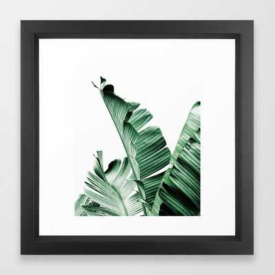 Banana leaf, Plant, Green, Minimal, Trendy decor, Interior, Wall art, Photo Art Print Framed Art Print - Society6