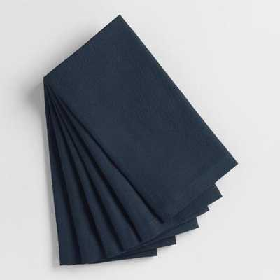 Dark Indigo Blue Buffet Napkins Set of 6 - Cotton by World Market - World Market/Cost Plus