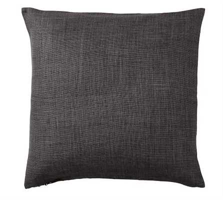 BELGIAN LINEN PILLOW COVER - CHARCOAL - Pottery Barn