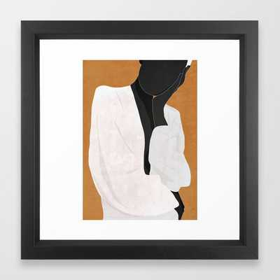 Minimal Art Girl 9a Framed Art Print - Society6