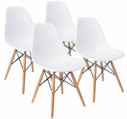 Blomquist Dining Chair Set of 4 White - Wayfair