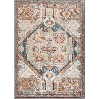 "Salma Rug, 6'7""x 9', Charcoal - Roam Common"