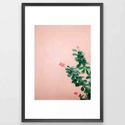 Floral Photography Print - Vector Black - Society6