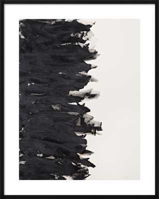 """Divide - 31x39"""" framed - Black Wood frame with mat - Artfully Walls"""