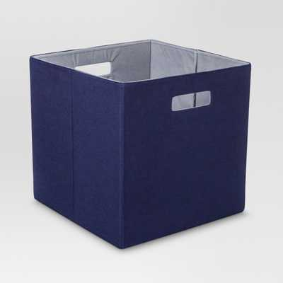"Fabric Cube Storage Bin (13"") - Threshold™ - Navy - Target"