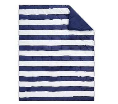 Rugby Stripe Comforter, Full/queen, Navy - Pottery Barn Kids