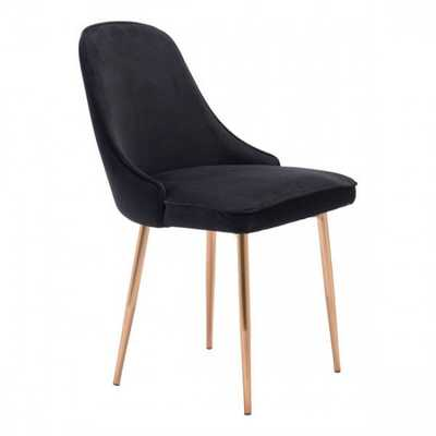Merritt Dining Chair Black Velvet - Zuri Studios