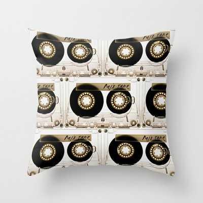 Transparant mix tape Retro Cassette Throw Pillow - Society6