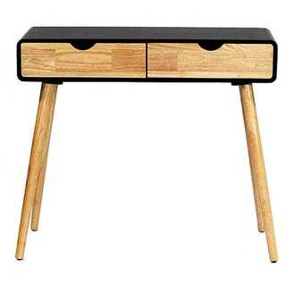 Mid-century Euro 2-drawer Console and Writing Desk - Overstock
