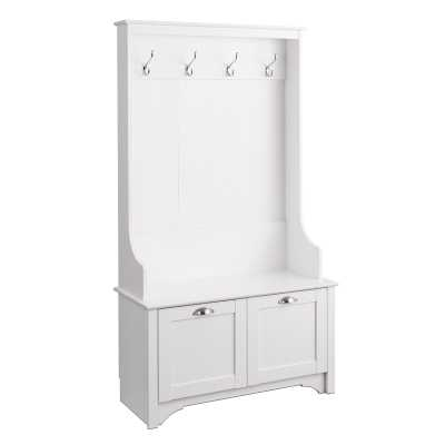 Wesson Hall Tree with Bench / White - Wayfair