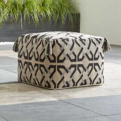 Mohave Outdoor Pouf - Crate and Barrel
