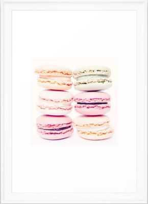 """macarons Framed Art Print - 15""""x21"""" - White Scooped Frame - Society6"""