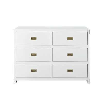 Benbrook 6 Drawer Double Dresser - white - Wayfair