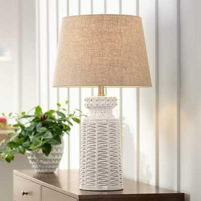 Helene Cream White Ceramic Table LampStyle # 4D527 - Lamps Plus