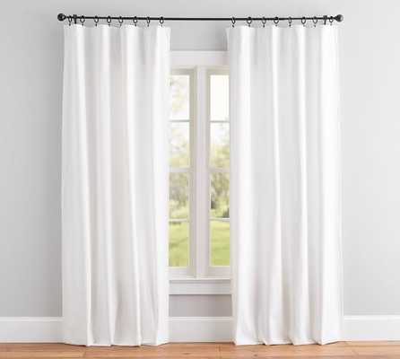 "Broadway Drape, Set of 2, 96"", White - Pottery Barn"