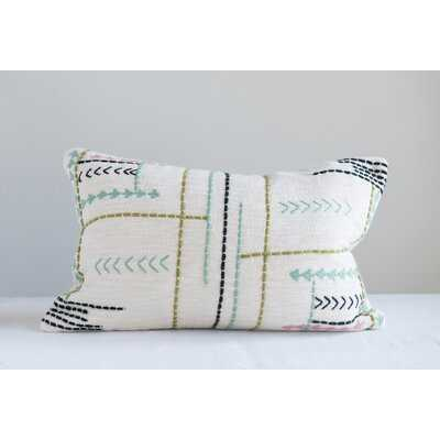 Cotton Geometric Lumbar Pillow - Wayfair