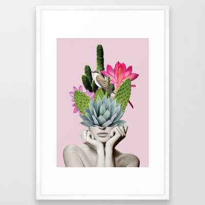 Cactus Lady Framed Art Print-Vector white frame -15x21 - Society6
