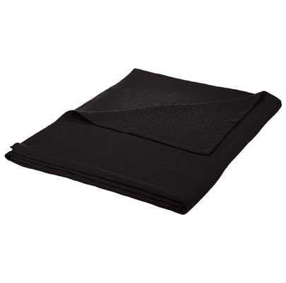 100% Cotton Blanket - Black - Full/Queen - Wayfair
