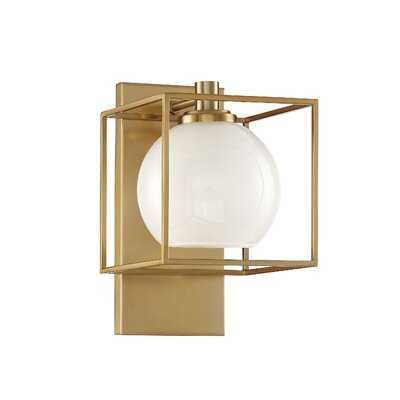 Yosef 1-Light Armed Sconce - Wayfair