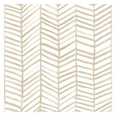 Cat Coquillette Herringbone Peel and Stick Wallpaper - York Wallcoverings