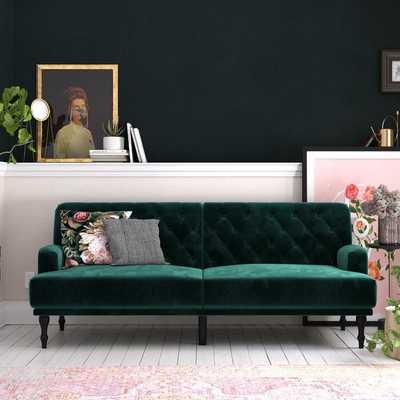 """Lexi Twin Or Smaller 78"""" Tufted Back Convertible Sofa - Wayfair"""