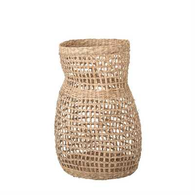 "Decorative 20"" Handwoven Natural Seagrass Vase - Moss & Wilder"