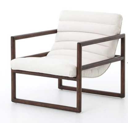 Fitz Chair, Dorell Gaucho Chalk - Burke Decor