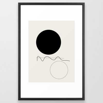 "Abstract 07 Framed Art Print, Vector Black Frame, 26"" x 38"" - Society6"