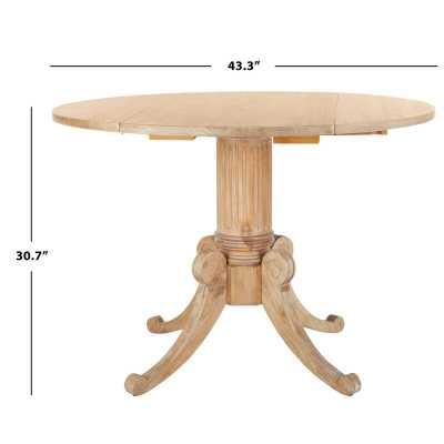 Adame Drop Leaf Solid Wood Pine Pedestal Dining Table - Wayfair