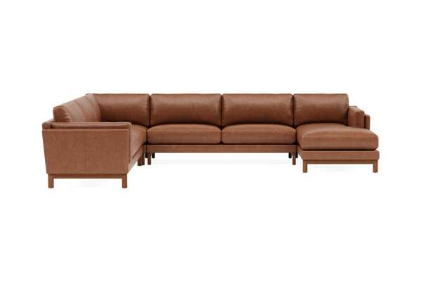 Gaby Leather Corner Sectional with Right Chaise, type undefined rotated 0 degreesGaby Leather Corner Sectional with Right Chaise, type undefined rotated 68 degreesGaby Leather Corner Sectional with Right Chaise, type undefined rotated 135 degreesGaby Leat - Interior Define