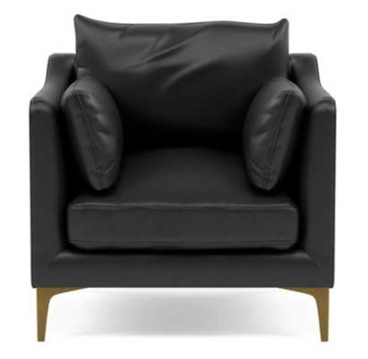 CAITLIN LEATHER BY THE EVERYGIRL Leather Petite Chair - Interior Define