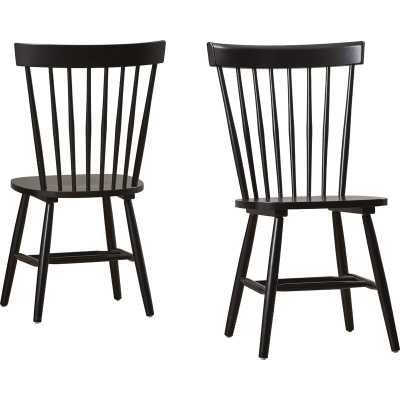 Roudebush Solid Wood Dining Chair (2 included) // Black - Wayfair