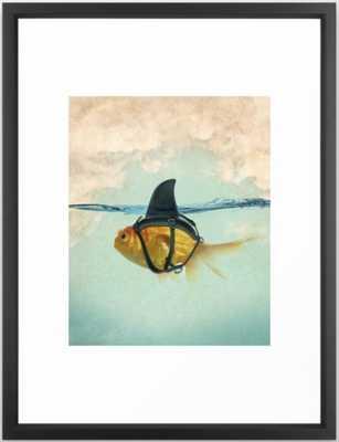 Brilliant DISGUISE - Goldfish with a Shark Fin Framed Art Print - Society6