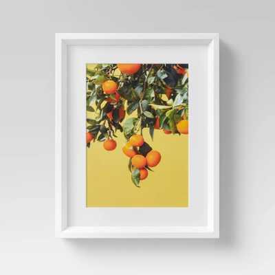 "12"" x 15"" Orange Tree Framed Wall Art - Threshold - Target"