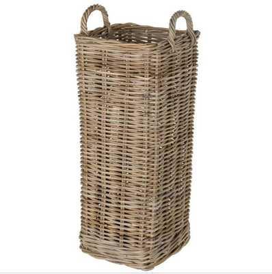 KOUBOO Kobo Square Tall Storage Basket with Metal Water Catch - Hayneedle