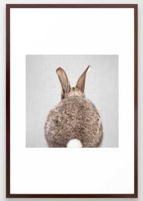 Rabbit Tail - Colorful Framed Art Print - Society6