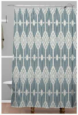 WEST END MIDNIGHT LINEN Shower Curtain - Wander Print Co.
