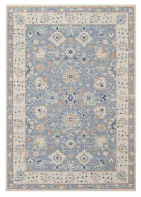 Miah Tufted Rug, Porcelain Blue, 7'9 x 9'10 - Pottery Barn