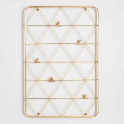 Gold Wire Photo Clip Wall Panel by World Market - World Market/Cost Plus