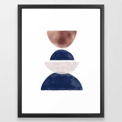 Semicircle Geometric II Art Print Framed Art Print - Society6