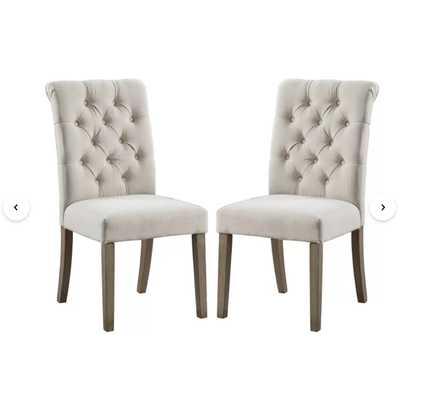 Burnard Upholstered Dining Chair - Tan - Wayfair